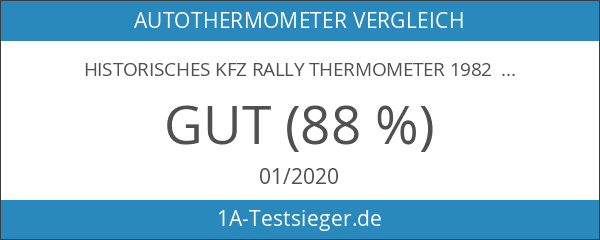 Historisches KFZ Rally Thermometer 1982 Bimetall