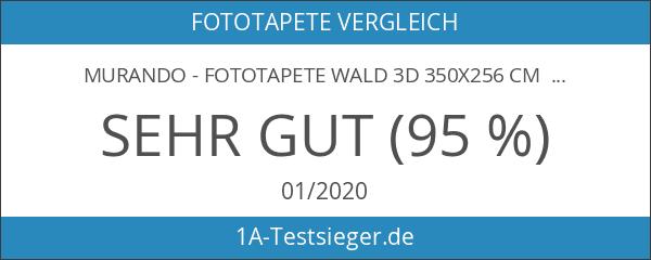 murando - Fototapete Wald 3D 350x256 cm - Vlies Tapete