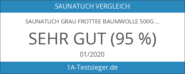 Saunatuch Grau Frottee Baumwolle 500g