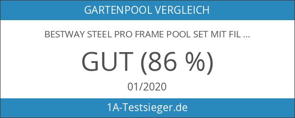 Bestway Steel Pro Frame Pool Set mit Filterpumpe 305 X