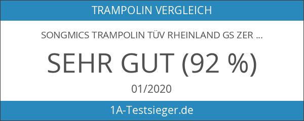 Songmics Trampolin TÜV Rheinland GS zertifiziert Ø 305 cm Gartentrampolin