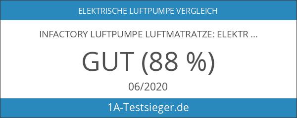 infactory Luftpumpe Luftmatratze: Elektrische Luftpumpe für schnelles Auf- & Abpumpen