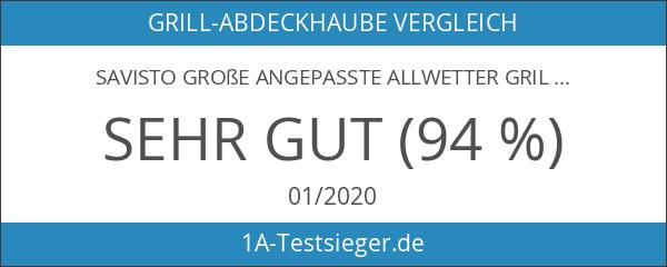 Savisto Große Angepasste Allwetter Grill- Abdeckhaube - 117 x 145