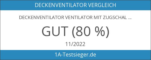 Deckenventilator Ventilator mit Zugschalter Beleuchtung Globo Jerry 0337