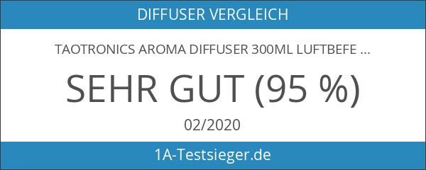 Aroma Diffuser 300ml TaoTronics Luftbefeuchter Oil Düfte Humidifier Holzmaserung LED