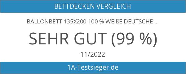 Ballonbett 135x200 100 % weiße deutsche Gänsefedern Klasse 1 Federbett