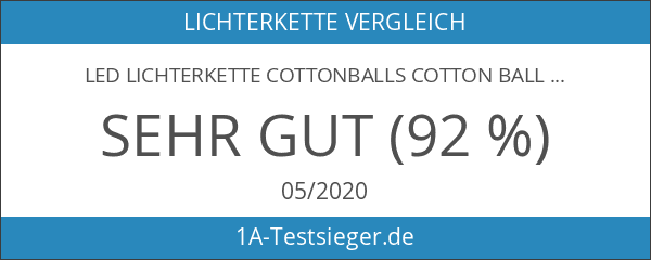 LED Lichterkette Cottonballs Cotton Balls in Lila 10 tlg