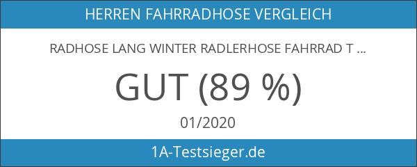 Radhose Lang Winter Radlerhose Fahrrad Trägerhose Coolmax Sitzpolster Steg M1