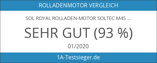 Sol Royal® elektrischer Rolladen-Motor SolTec SR20