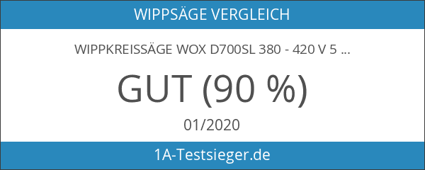 Wippkreissäge wox d700sl 380 - 420 V 5