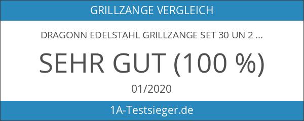 DRAGONN Edelstahl Grillzange Set 30 Un 23 Cm Profi-Küchenzange Mehrzweckzange