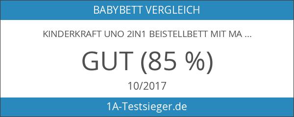 Kinderkraft UNO 2in1 Beistellbett mit Matratze Babybett Kinder Baby Reisebett