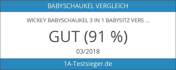 WICKEY Babyschaukel 3 in 1 Babysitz verstellbar und mitwachsend Schaukelsitz