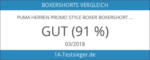 PUMA Herren PROMO STYLE Boxer Boxershort 6er Pack triple black