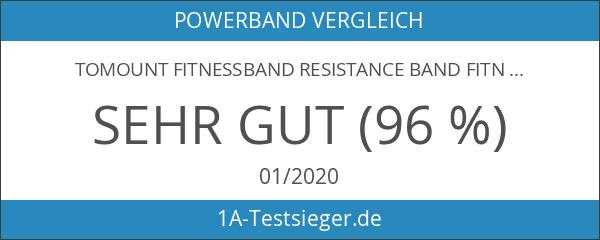 Tomount Fitnessband Resistance Band Fitnessbänder Rubber Band für Krafttraining