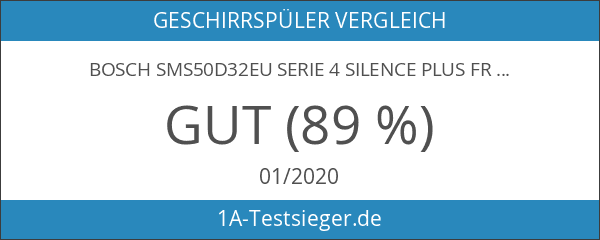 Bosch SMS50D32EU Serie 4 Silence Plus Freistehender Geschirrspüler