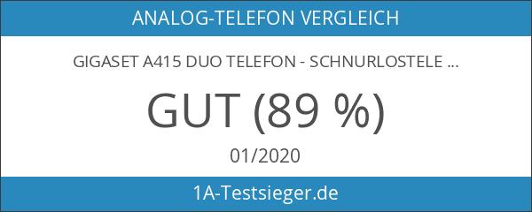 Gigaset A415 Duo Dect-Schnurlostelefon schwarz