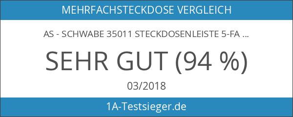 as - Schwabe 35011 Steckdosenleiste 5-fach mit Schalter und Kinderschutz