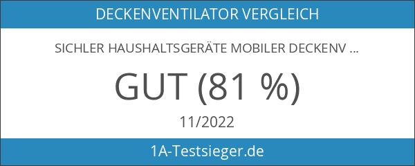 Sichler Haushaltsgeräte Mobiler Deckenventilator: Mobiler Decken-Ventilator VT-141.D mit Aufhänger
