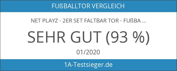 NET PLAYZ - 2er Set faltbar Tor - Fußball-Tor Pop