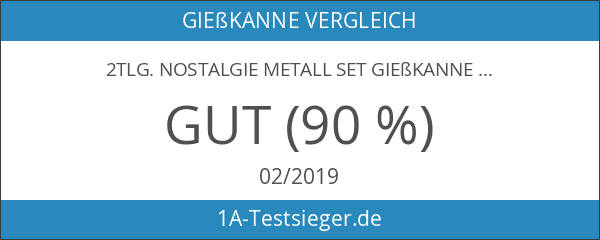 2tlg. Nostalgie Metall Set Gießkanne