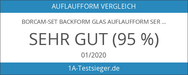 Borcam-Set Backform Glas Auflaufform Servierform Glasauflaufform
