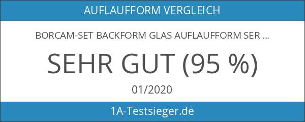 Borcam-Set Backform Glas Auflaufform Servierform Glasauflaufform