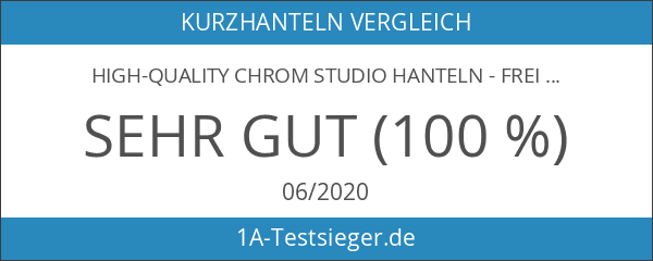 High-Quality Chrom Studio Hanteln - Frei wählbare Gewichtsabstufungen
