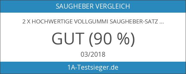 2 x Hochwertige Vollgummi Saugheber-Satz Glassauger