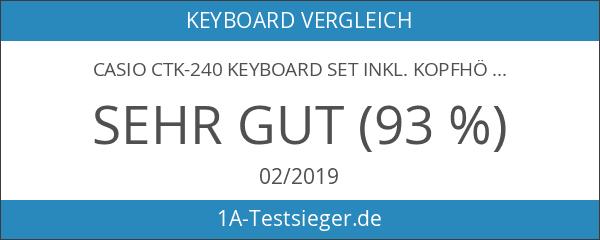 Casio CTK-240 Keyboard SET inkl. Kopfhörer