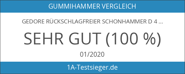 GEDORE Rückschlagfreier Schonhammer d 40 mm