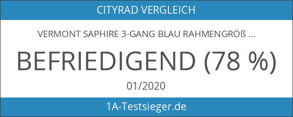 Vermont Saphire 3-Gang blau Rahmengröße 50 cm 2017 Cityrad