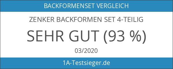 Zenker 6528 Backfomren-Set 4-teilig