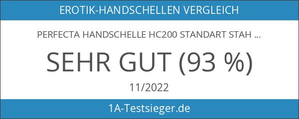 Perfecta Handschelle HC200 Standart Stahlfesseln mit Kette Silber One size