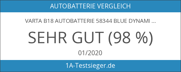 Varta B18 Autobatterie 58344 Blue Dynamic