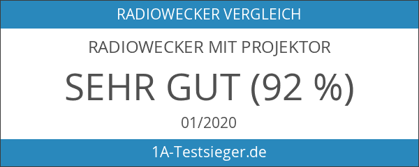 Radiowecker mit Projektor