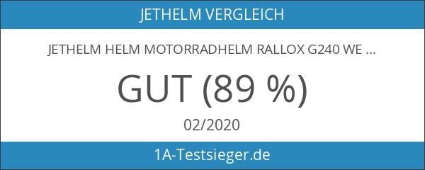 Jethelm Helm Motorradhelm RALLOX G240 weiß mit Langvisier Größe M