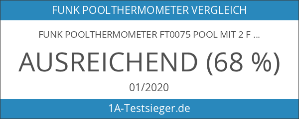 Funk Poolthermometer FT0075 Pool mit 2 Funksensoren Teichthermometer Schwimmbad