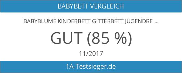 BABYBLUME Kinderbett Gitterbett Jugendbett Teilmassiv 140x70 cm - Tina Weiß