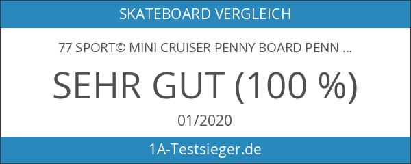 77 SPORT© Mini Cruiser Penny Board Pennyboard Ahorn Holz Skateboard