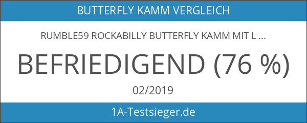 Rumble59 Rockabilly Butterfly Kamm mit Ledertasche