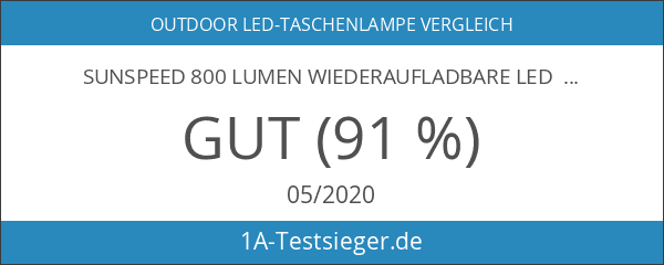 SUNSPEED 800 Lumen Wiederaufladbare LED Taschenlampe