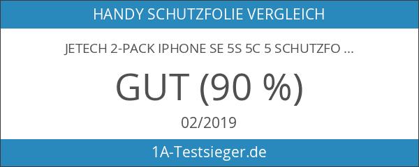 JETech 2-Pack iPhone SE 5S 5C 5 Schutzfolie Panzerglasfolie Gehärtetes