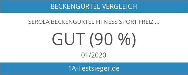 Serola Beckengürtel Fitness Sport Freizeit Body Training anthrazit Gr. M