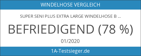 Super Seni Plus extra large Windelhose Bauchumfang 130 - 170