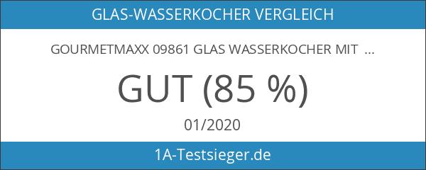 gourmetmaxx 09861 Glas Wasserkocher mit Temperaturwahl