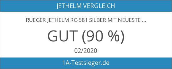 rueger Jethelm RC-581 Silber mit neuester ECE 22
