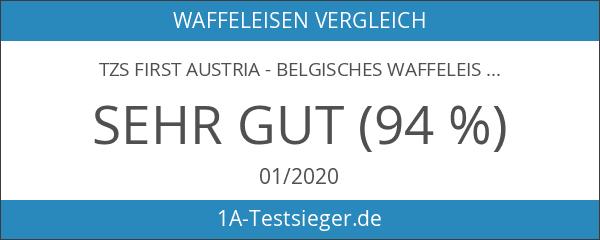 TZS First Austria - belgisches Waffeleisen 2 brüsseler Waffeln