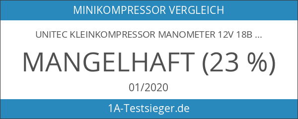 Unitec Kleinkompressor Manometer 12V 18bar Kompressor Luftkompressor Luftpumpe