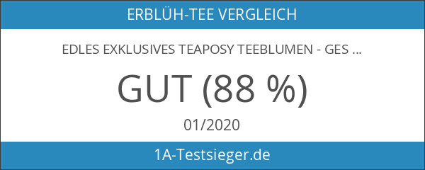 "Edles exklusives Teaposy Teeblumen - Geschenkset ""Charme"" mit Teekrug 500ml"